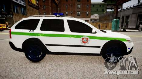Lithuanian Police Skoda Octavia Scout for GTA 4 left view