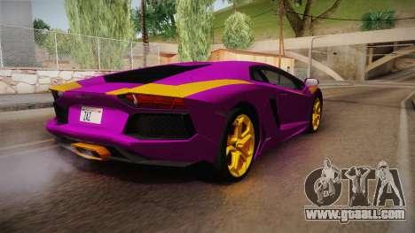 Lamborghini Aventador The Joker for GTA San Andreas left view