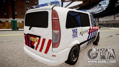 Mercedes-Benz Vito 115 CDI Dutch Police for GTA 4 left view