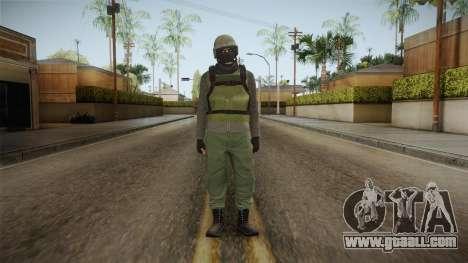 GTA Online Military Skin Green-Verde for GTA San Andreas second screenshot