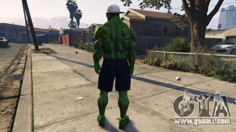GTA 5 The Hulk human eyes third screenshot