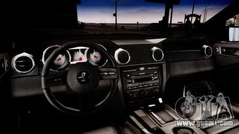 Shelby GT500KR for GTA 4 inner view