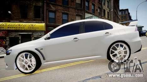 Mitsubishi Evolution X 2009 v2.0 for GTA 4 right view