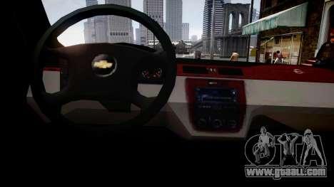 Chevrolet Impala LS for GTA 4 inner view