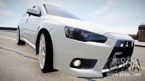 Mitsubishi Evolution X 2009 v2.0 for GTA 4