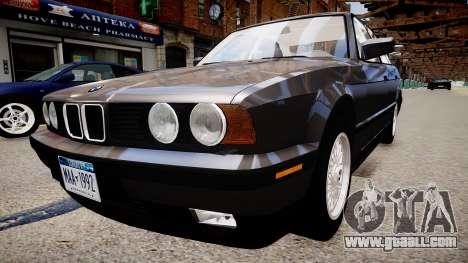 BMW 535i E34 ShadowLine v.3.0 for GTA 4 back left view