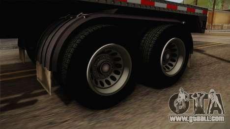GTA 5 Log Trailer v1 IVF for GTA San Andreas back view