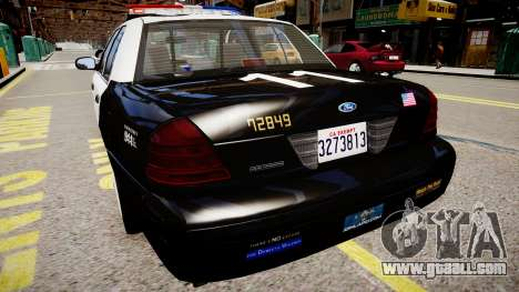 Ford Crown Victoria LAPD for GTA 4 left view