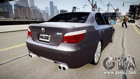 BMW M5 E60 2009 for GTA 4 back left view