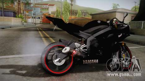 Yamaha YZF-R6 2008 for GTA San Andreas left view