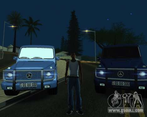 Mercedes Benz G500 Armenian for GTA San Andreas engine