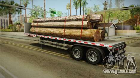 GTA 5 Log Trailer v3 for GTA San Andreas left view
