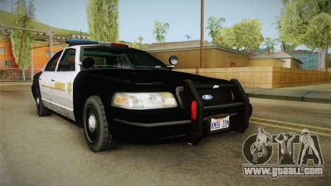 Ford Crown Victoria SHERIFF for GTA San Andreas back left view