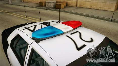 Ford Crown Victoria SHERIFF for GTA San Andreas inner view
