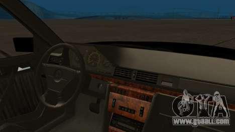 Mersedes-Benz E500 W124 Armenia for GTA San Andreas back view