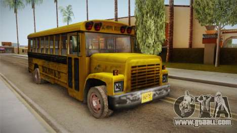 Driver Parallel Lines - School Bus for GTA San Andreas right view