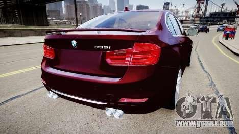 BMW 335i 2013 for GTA 4 back left view