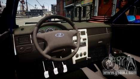Lada Priora hatchback beta for GTA 4 inner view