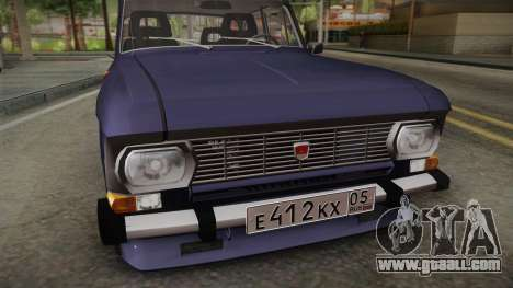 Moskvich-412 v2.0 for GTA San Andreas back left view