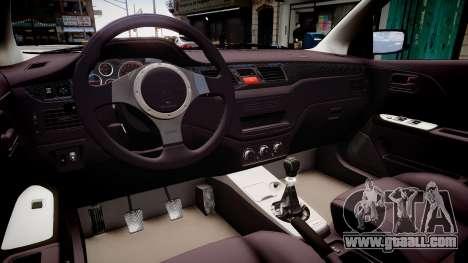 Mitsubishi Lancer Evolution VIII MR C-West for GTA 4