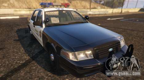 GTA 5 Ford Crown Victoria P71- LA Co. Sheriff 1999 back view