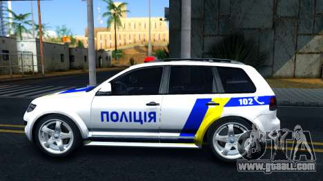 Volkswagen Touareg Police Of Ukraine for GTA San Andreas left view