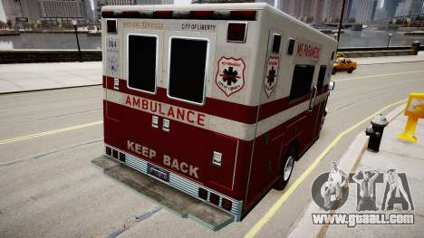 Vapid Steed Ambulance for GTA 4 back left view