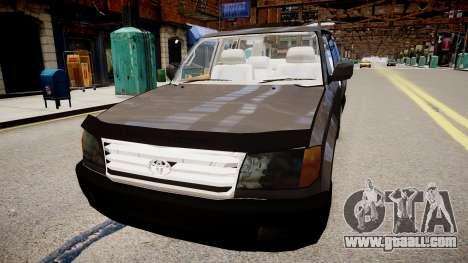 Toyota Land Cruiser VXR 1999 for GTA 4 back left view