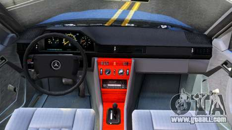 Mercedes-Benz W124 Pickup for GTA San Andreas inner view