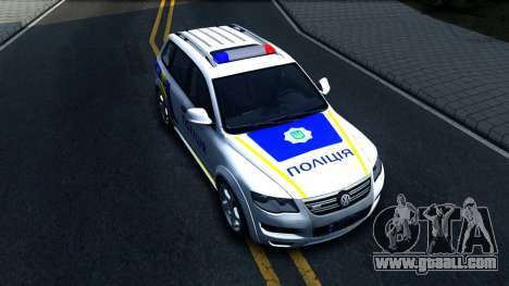 Volkswagen Touareg Police Of Ukraine for GTA San Andreas right view