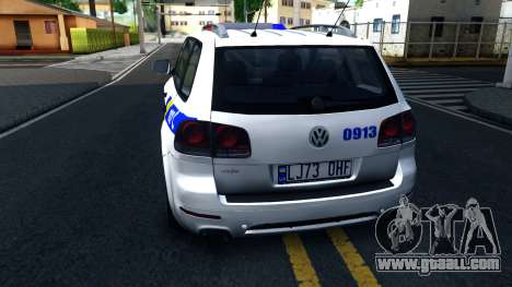 Volkswagen Touareg Police Of Ukraine for GTA San Andreas back left view