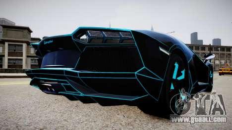Lamborghini Aventador TRON Edition for GTA 4 back left view
