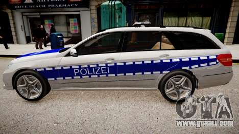 German Police Mercedes Benz E350 for GTA 4 left view