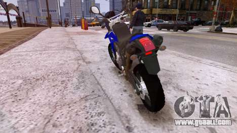Yamaha XT 660R for GTA 4 back left view