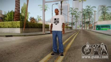 White t-shirt with the brand W. C. Choppers for GTA San Andreas third screenshot