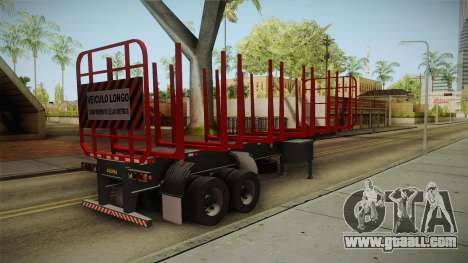 Double Trailer Timber Brasil v1 for GTA San Andreas left view
