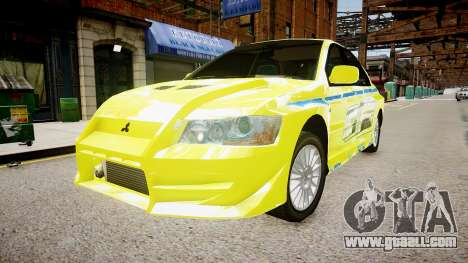 Mitsubishi Evo IX Fast and Furious 2 V1.0 for GTA 4 right view