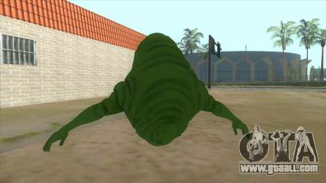 Slimer From Ghostbusters for GTA San Andreas back left view