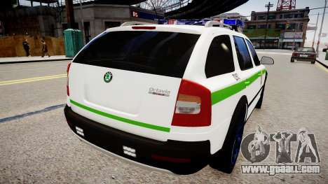 Lithuanian Police Skoda Octavia Scout for GTA 4 back left view