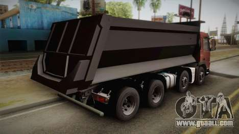 Volvo FMX Euro 5 8x4 Dumper Low for GTA San Andreas