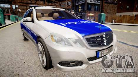 German Police Mercedes Benz E350 for GTA 4 right view