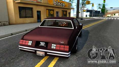Chevrolet Monte Carlo 1976 for GTA San Andreas back left view