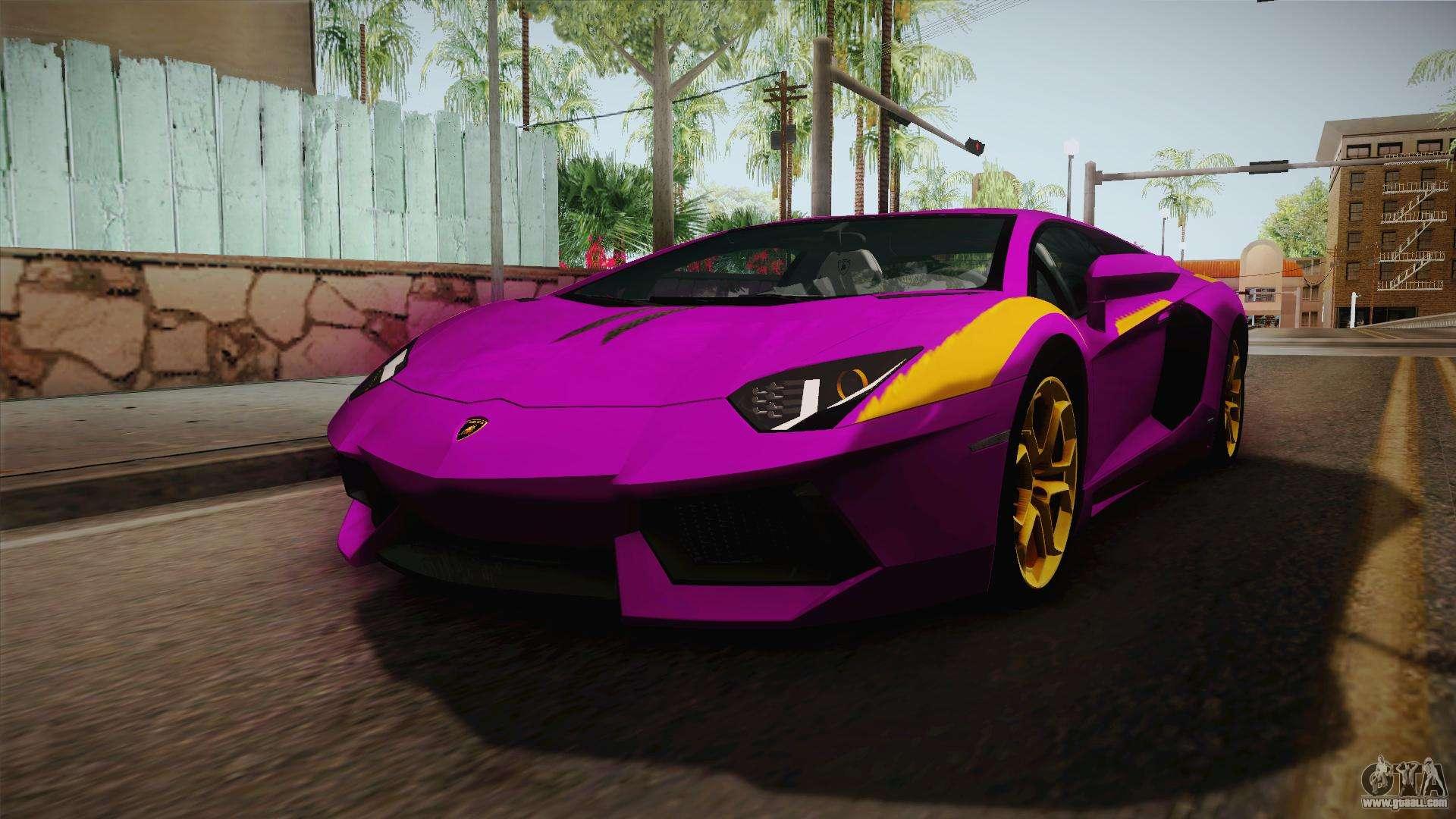 Lamborghini Aventador The Joker For Gta San Andreas