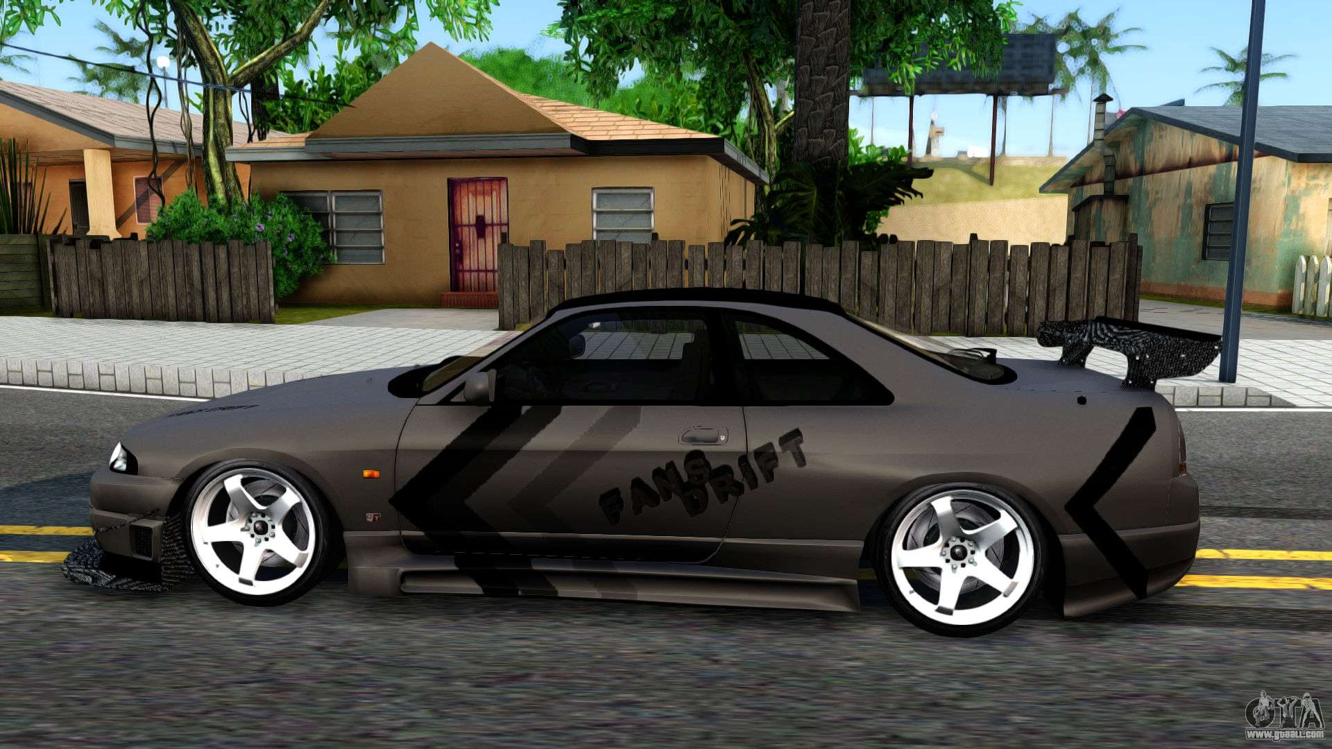 Nissan skyline gt r33 fans drift for gta san andreas left view