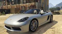 718 Porsche Boxster S Roadster for GTA 5