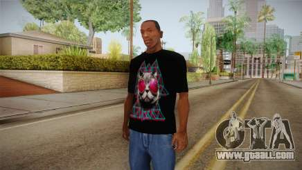 3D Space Cat T-Shirt for GTA San Andreas