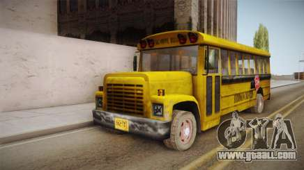 Driver Parallel Lines - School Bus for GTA San Andreas