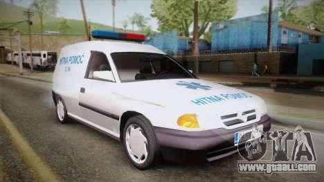Opel Astra F Van Ambulance for GTA San Andreas