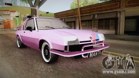Opel Manta Pickup for GTA San Andreas