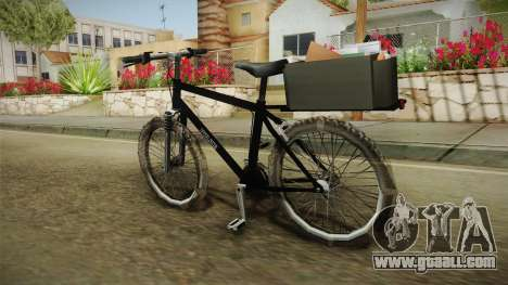 Police Mountain Bike for GTA San Andreas left view